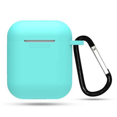 Силиконовый противоударный защитный чехол для Apple AirPods Бирюзовый
