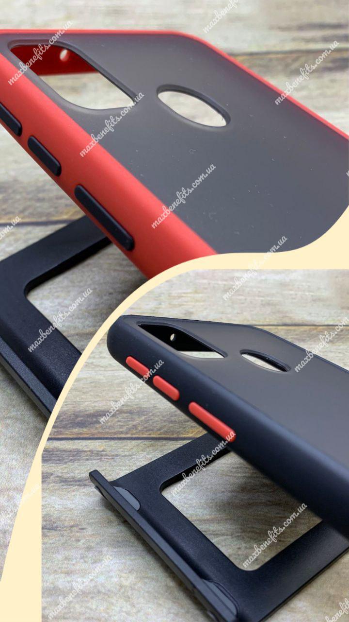 Противоударный чехол для Samsung M30S 2019 (M307F) матовый с цветными кнопками