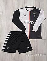 Футбольная форма с длинным рукавом Ювентус (FC Juventus ). Сезона 2019-2020.Основная.