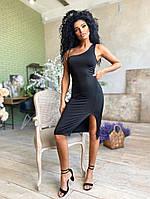 Женское стильное облегающее платье на одно плечо, фото 1
