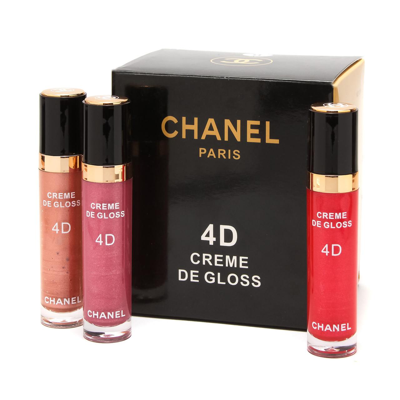 Блиск для губ CHANEL Rouge Coco Shine 4D Cream de Gloss 12 в 1 / палітра В