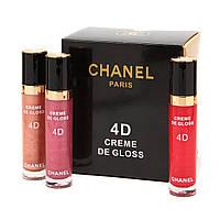 Блиск для губ CHANEL Rouge Coco Shine 4D Cream de Gloss 12 в 1 / палітра В, фото 1