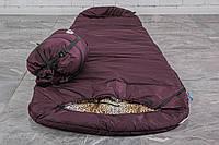 Спальный мешок кокон (флис, до -15) спальник туристический для похода, для холодной погоды!, фото 1