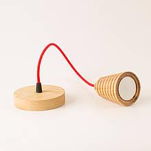 """Светильник потолочный подвесной лофт из дерева """"Рick Еasy"""" с текстильным шнуром"""