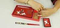 Сервиз для суши красный с сакурой 1 персона, фото 1