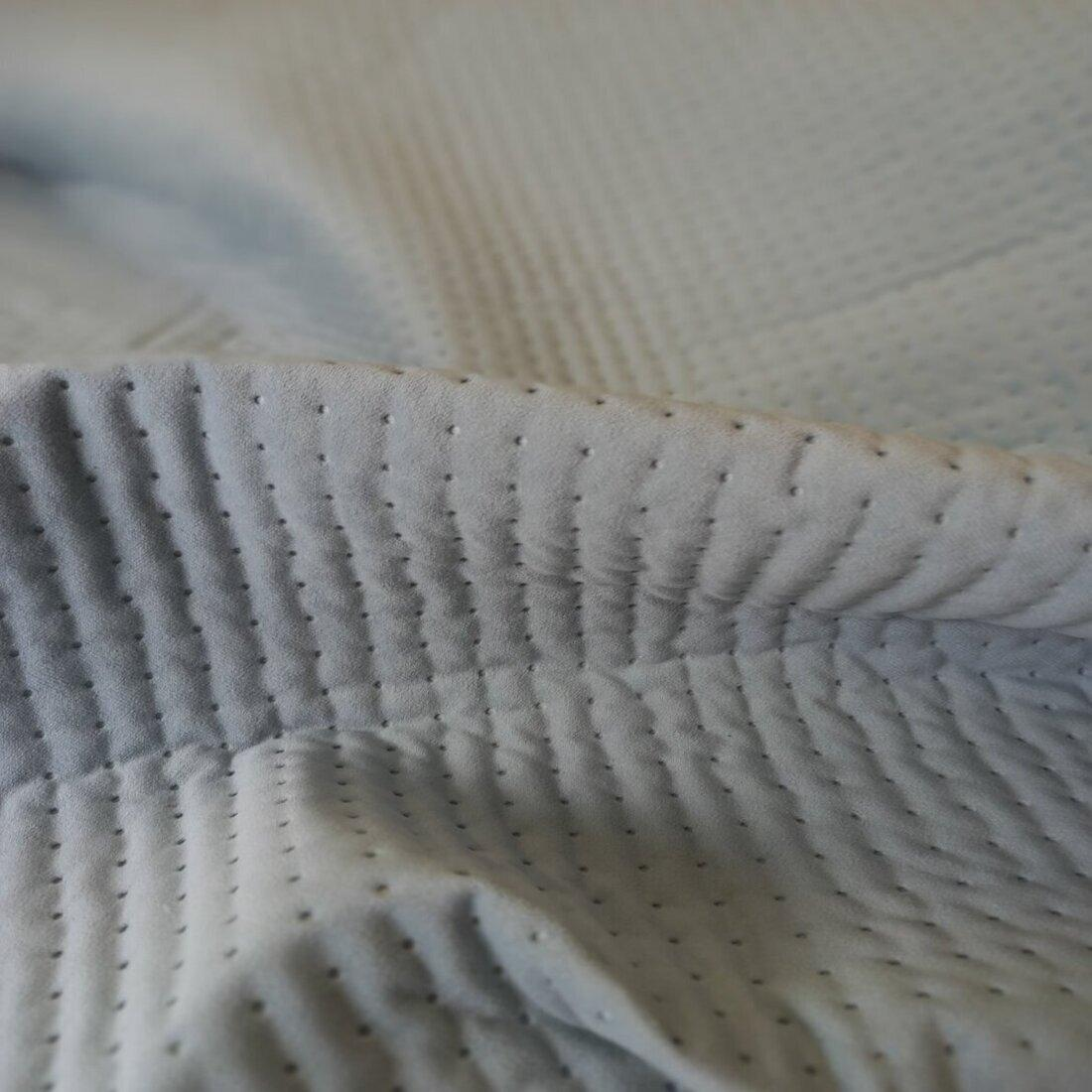 Стьобана тканина Trinity 22 Aqua Dots S, велюр
