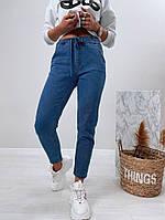 Женские стильные джинсы с резинкой на поясе, фото 1