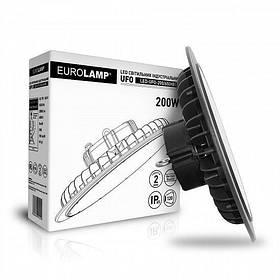 Светильник LED EUROLAMP 200W 6500K 20000Lm IP65 круглый промышленный HIGH Bay UFO LED-UFO-200/65 светодиодный