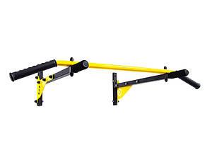 Турник настенный подвесной 3 хвата с выносными ручками Besport BS-T0202 Желтый