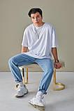 Базовая белая футболка оверсайз, фото 5