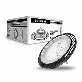 Светильник LED EUROLAMP 150W 5000K 18000Lm IP65 круглый промышленный HIGH Bay UFO LED-UFO-150/50(new)