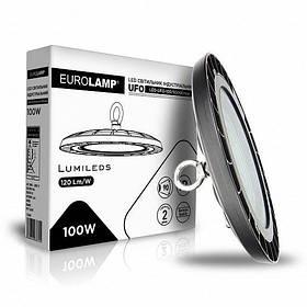 Светильник LED EUROLAMP 100W 5000K 10000Lm IP65 круглый промышленный HIGH Bay UFO LED-UFO-100/50(HB)new
