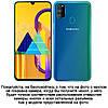 """Силіконовий чохол накладка протиударний зі вставкою з натуральної шкіри для Samsung M30s M307F """"GENUINE"""", фото 2"""