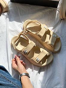 Женские сандалиии Chanel Dad Sandals Beige