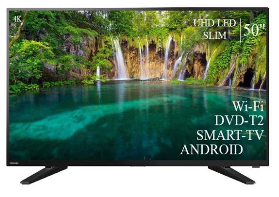 """Сучасний Телевізор Toshiba 50"""" Smart-TV ULTRA HD T2 USB Android 9.0 Гарантія 1 РІК"""