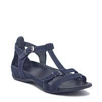 Босоножки кожаные женские с закрытой пятой / сандалии женские кожаные / босоножки кожаные синие