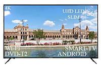"СовременныйТелевизор Liberton 56"" Smart-TV+DVB-T2+USB АДАПТИВНИЙ UHD,4K+Android 9.0, фото 1"