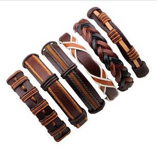 Чоловічі шкіряні браслети