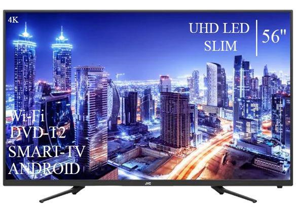 """Сучасний Телевізор JVC 56"""" Smart-TV ULTRA HD T2 USB Android 9.0 Гарантія 1 РІК"""