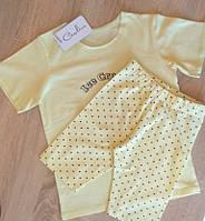 "Костюм детский футболка-капри ""Ice Cream"" светло-желтый"