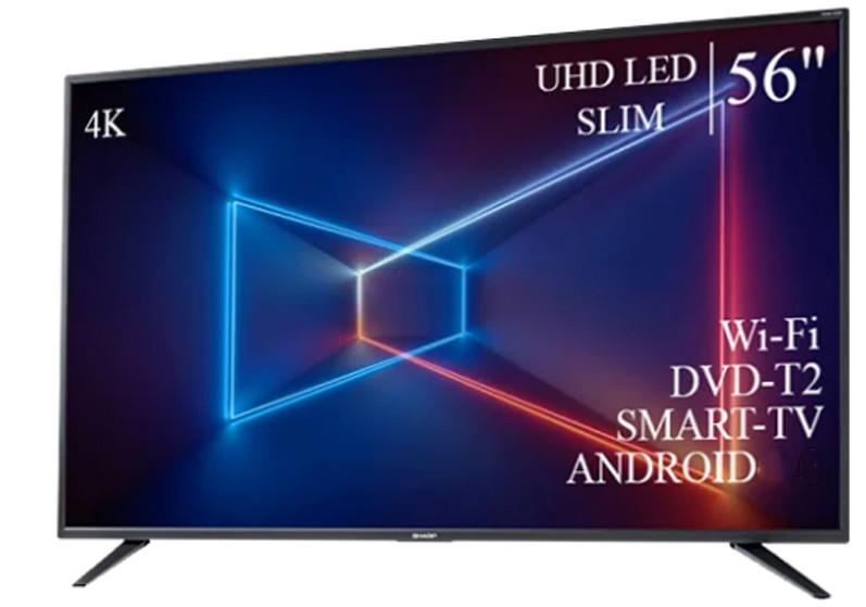 """Сучасний Телевізор Sharp 56"""" Smart-TV ULTRA HD T2 USB Гарантія 1 РІК!"""
