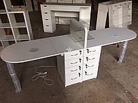 Подвійний манікюрний стіл для двох майстрів Модель V155, фото 1
