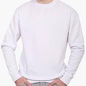 Свитшот мужской Без принта (No print)  (8771-1094) Белый