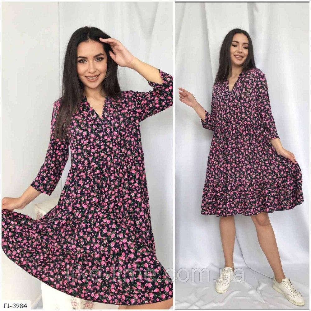 Женское красивое платье свободного кроя