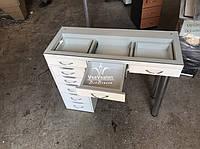 Стол-витрина, визажный стол, гримерный стол,  модель V158 белый, фото 1