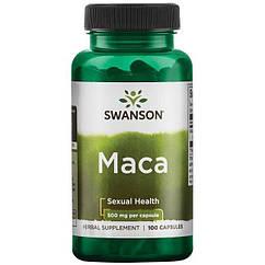 Swanson Maca 500 mg, Маку (100 капс.)