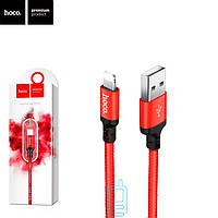 Кабель Hoco X14 Lightning-USB 1m Красный