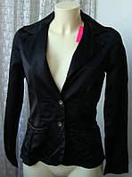 Пиджак женский жакет модный черный атласный бренд 10 Feet р.42-44 4631, фото 1