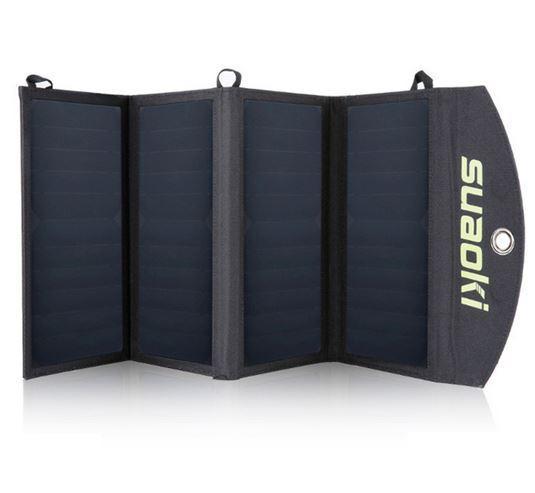 Солнечное зарядное устройство Suaoki 5V 25W 2*USB - солнечная панель, четыре секции