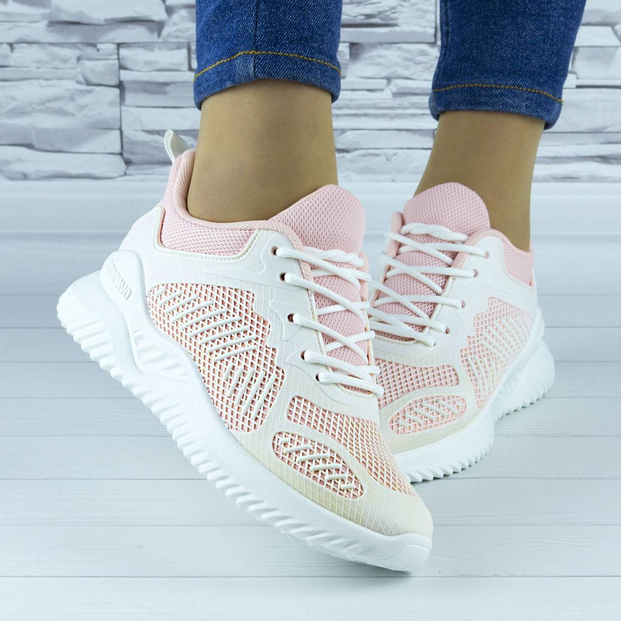 Кросівки жіночі рожеві демісезонні комбіновані (b-670)