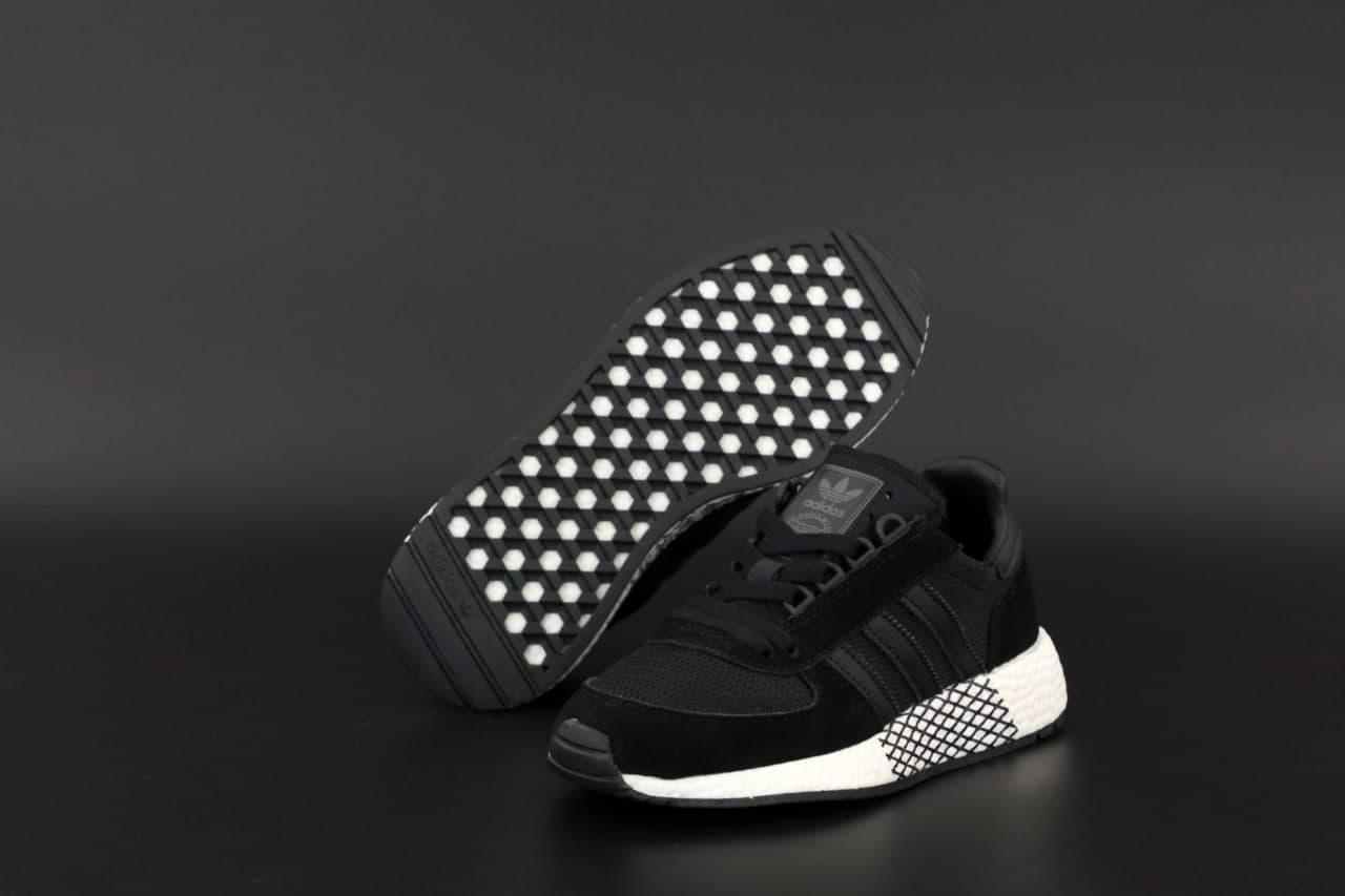 Мужские кроссовки Adidas Marathon (Чёрный) К12569 легкая стильная обувь