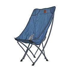Розкладний стілець Lesko S4576 Blue туристичний для відпочинку дачі риболовлі 60*95*38 см