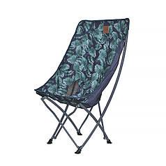 Розкладний стілець з підголовником Lesko S4576 Green leaves туристичний для відпочинку дачі риболовлі 60*95*38 см