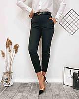 Жіночі стильні укорочені брюки з кишенями, фото 1
