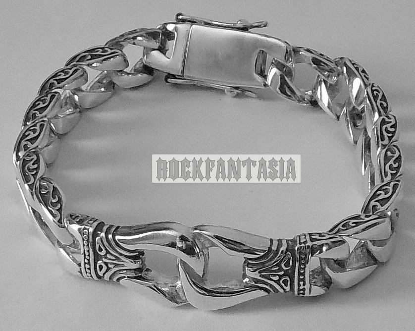 Серебряный мужской браслет с кельтским узором, срібний браслет чоловічий срібло