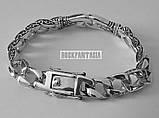 Серебряный мужской браслет с кельтским узором, срібний браслет чоловічий срібло, фото 2