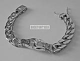 Серебряный мужской браслет с кельтским узором, срібний браслет чоловічий срібло, фото 3