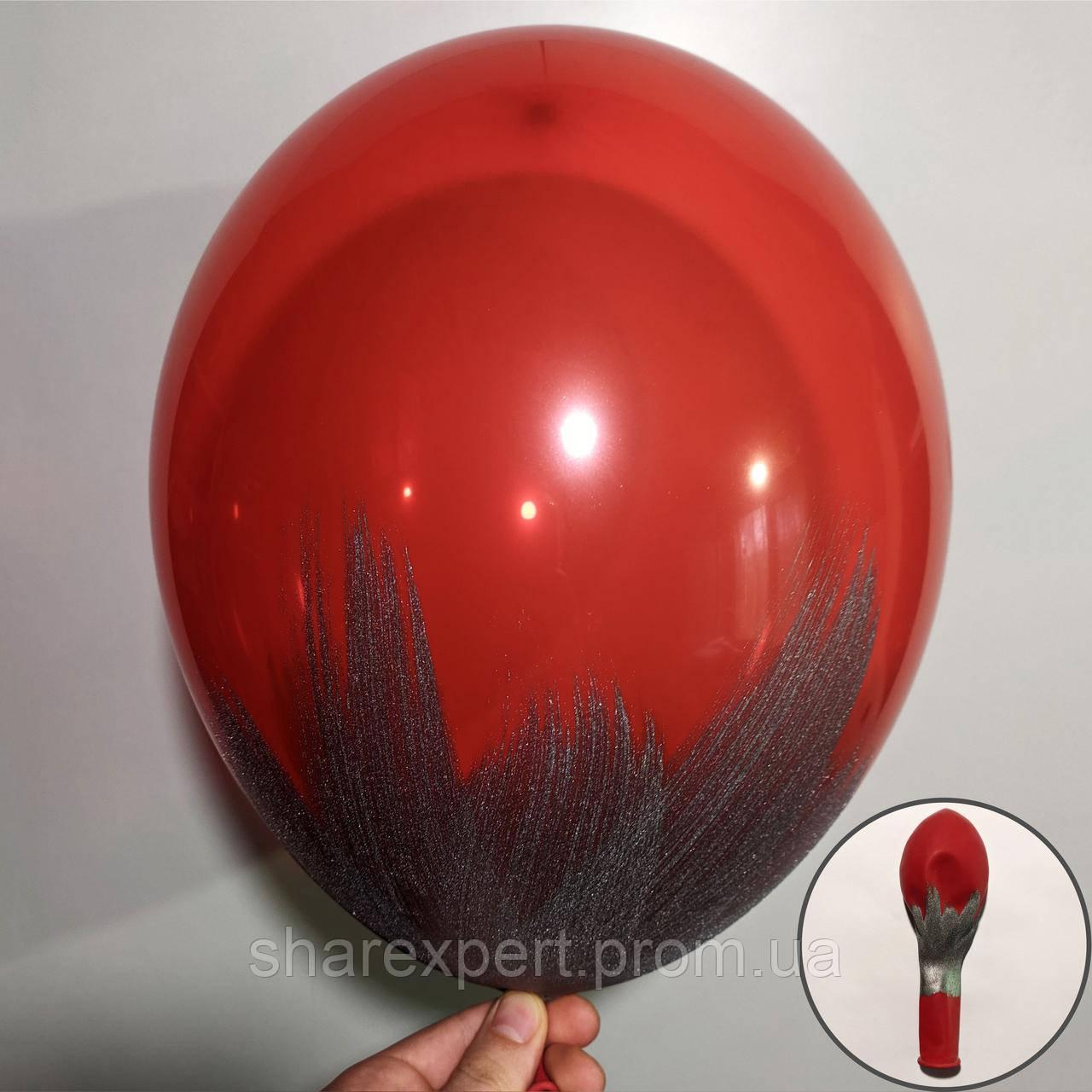 Срібло на Червоних(кристал) латексних кульках