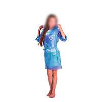 Детский дождевик под пояс Синий 60мкм 70х48 см, плащ дождевик для мальчика   дощовик для дітей (SH)