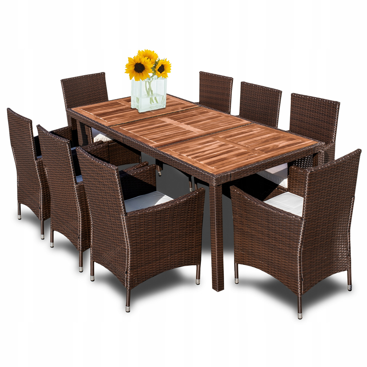 Комплект мебели из техноротанга Estevan 8 человек акация