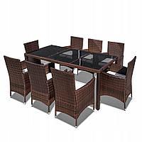 Комплект меблів з техноротанга HAWAII стіл + 8 стільців, фото 1
