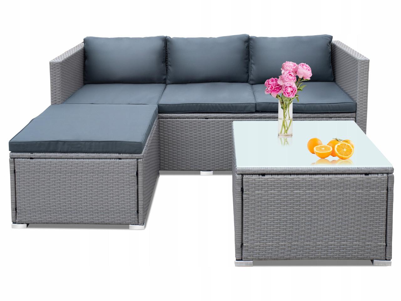 Комплект меблів з техноротанга NOVIA кутовий диван + столик