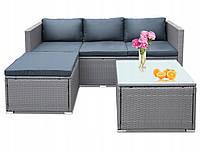 Комплект меблів з техноротанга NOVIA кутовий диван + столик, фото 1