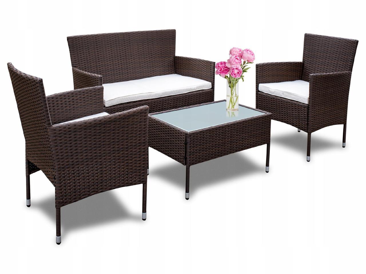 Комплект меблів з техноротанга диван + 2 крісла + стіл