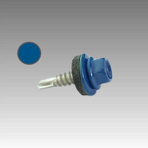 Саморіз з жердину. гол. з шайб. EPDM 4,8*19 DIN 7504K RAL 5005 зі св. по мет. (ящ. 2400 шт.) сигнальний синій