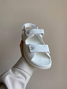 "Женские сандалиии Chanel ""Dad"" sandals White"